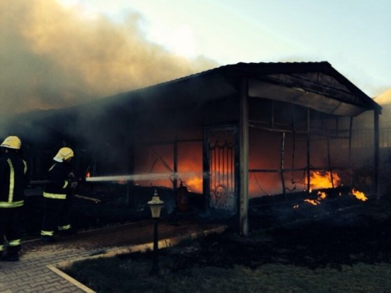 حريق دفاع مدني (2)