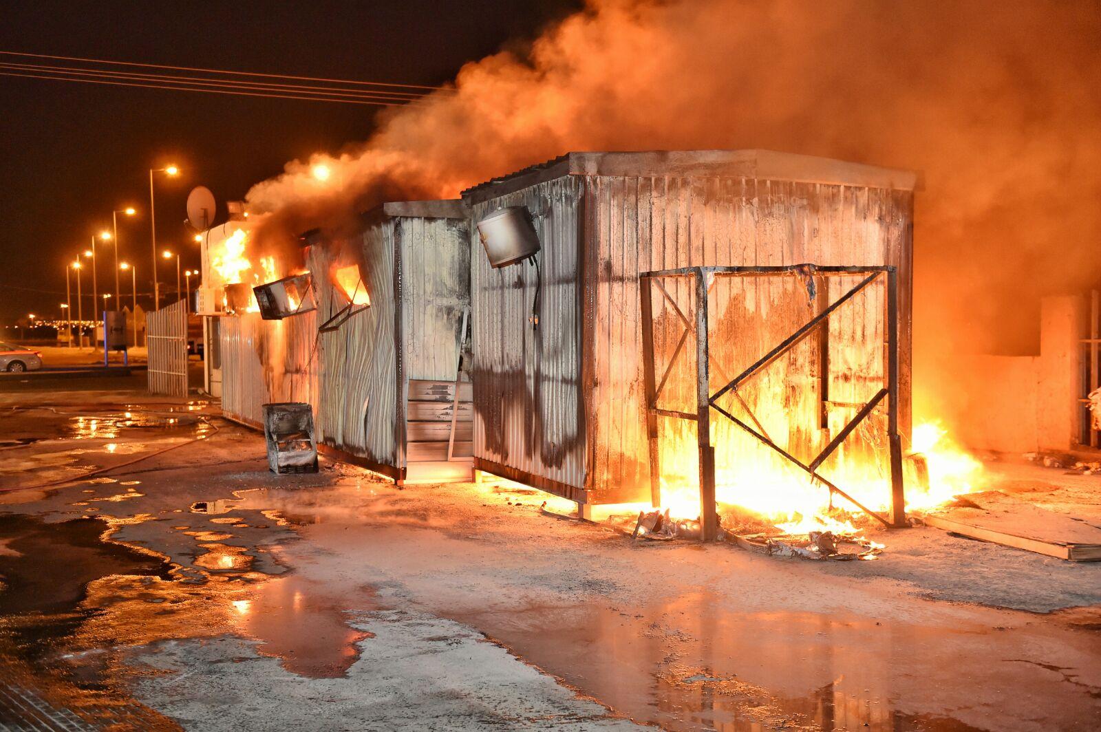 حريق-سكن-عمال-بحائل (3)