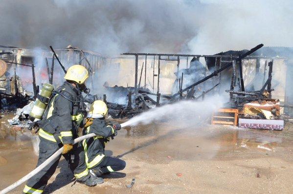 حريق-سكن-عمال-برفحاء (2)