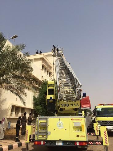 حريق سكن ممرضات