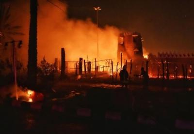 حريق سمراء حائل2