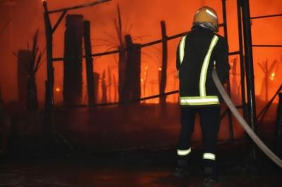 حريق سمراء حائل4