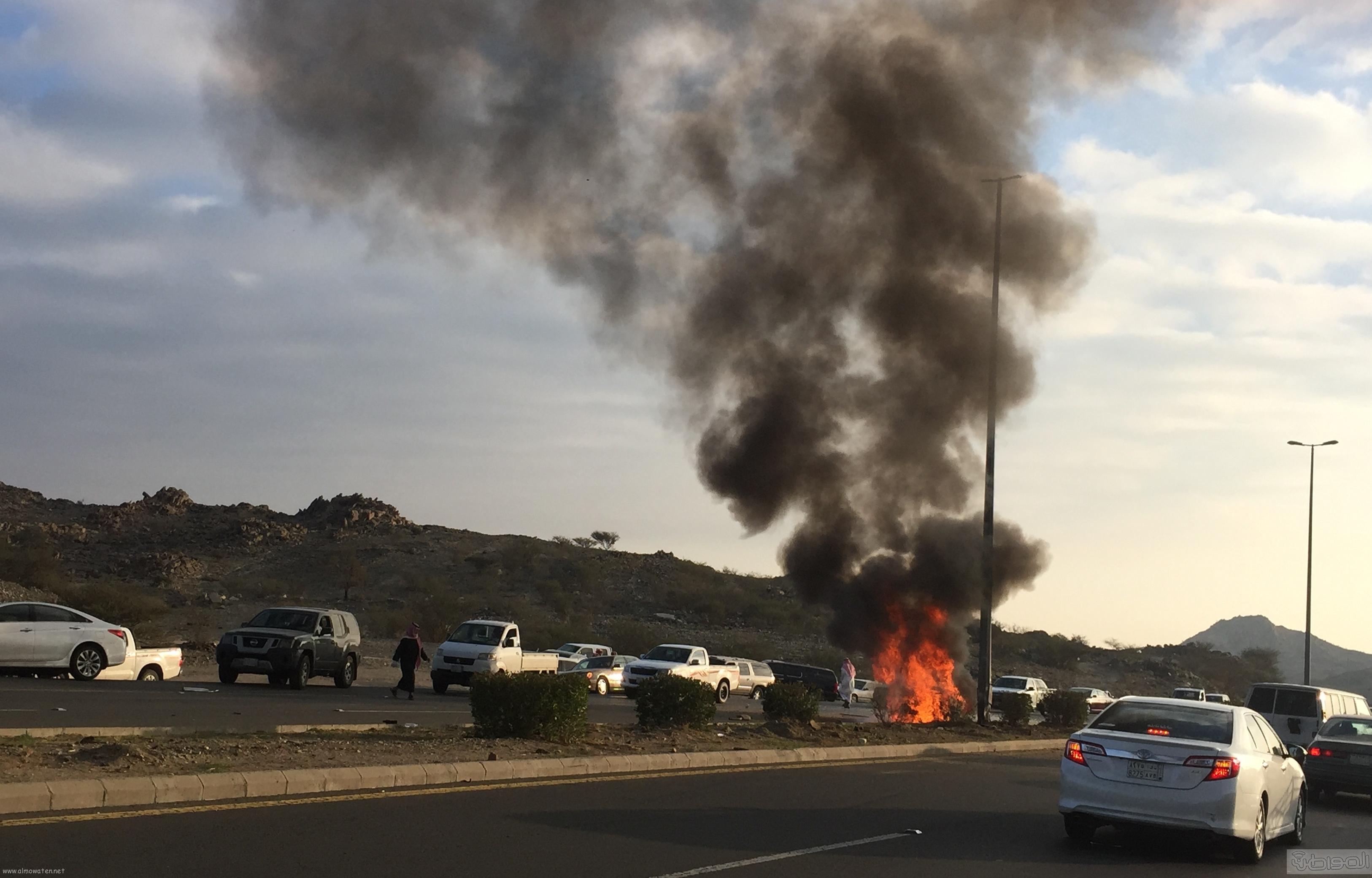 حريق-سيارة-مواطن-بالطائف (2)