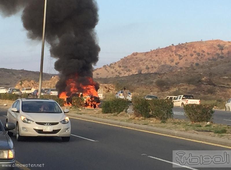 حريق-سيارة-مواطن-بالطائف (4)