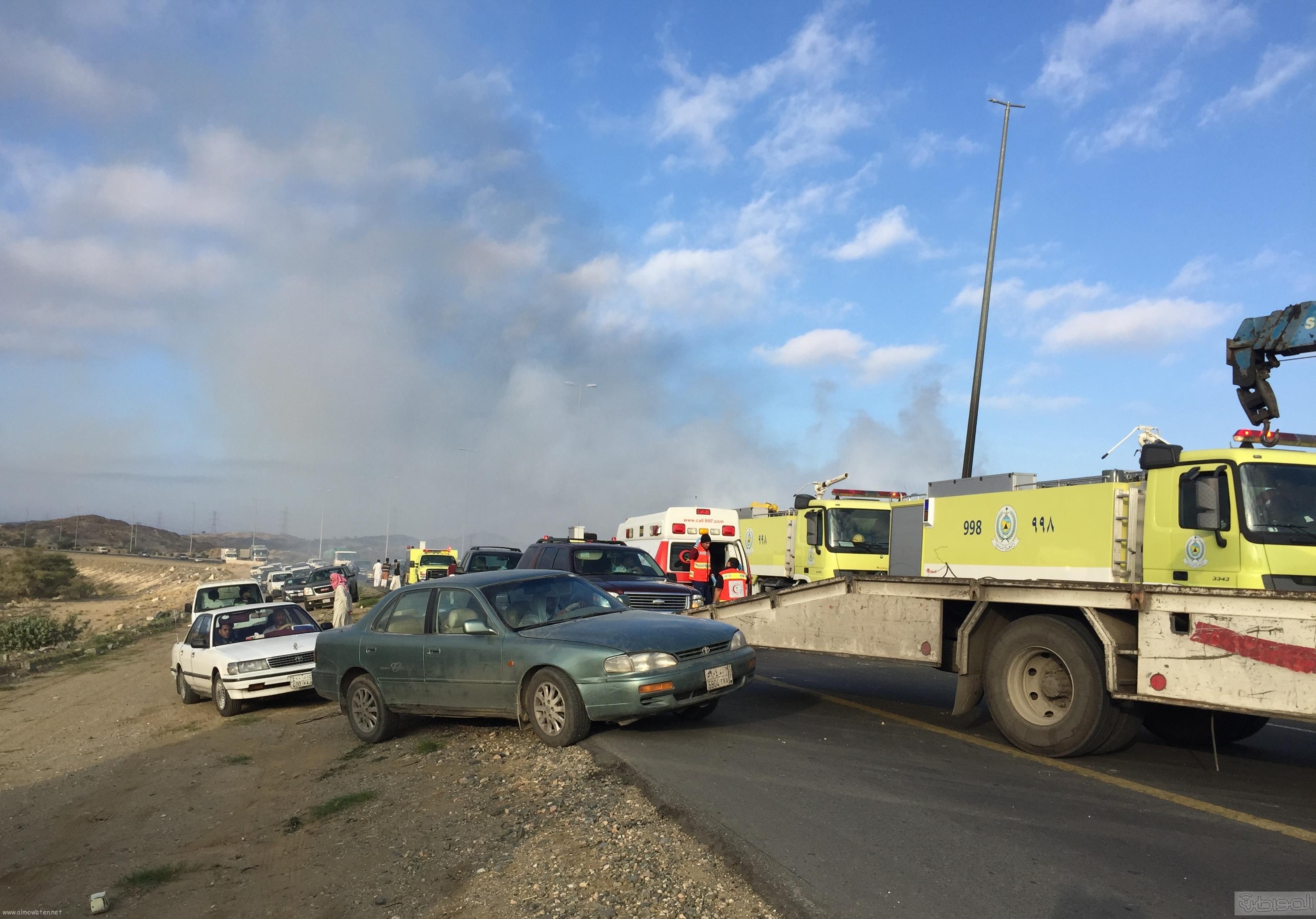 حريق-سيارة-مواطن-بالطائف (6)