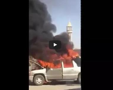حريق سيارة