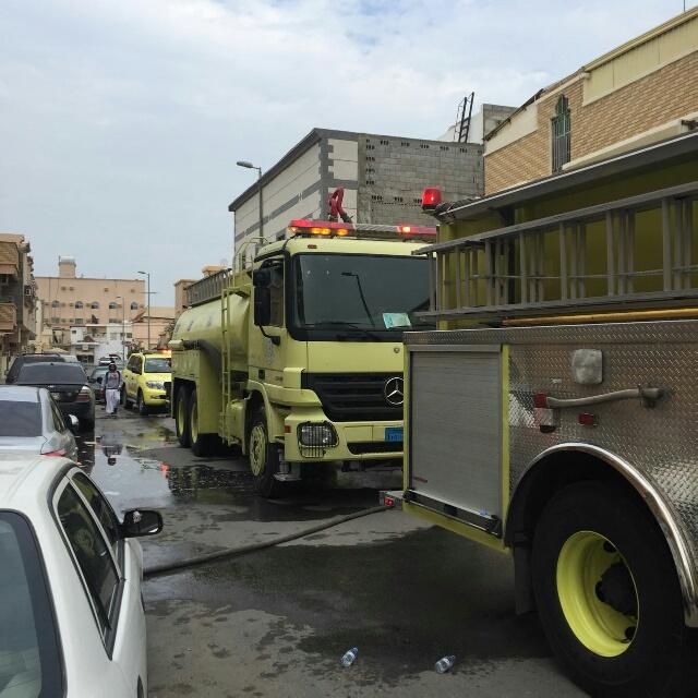 حريق شقة مدينة العمال الدمام (1)
