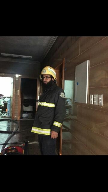 حريق شقة مدينة العمال الدمام (3)