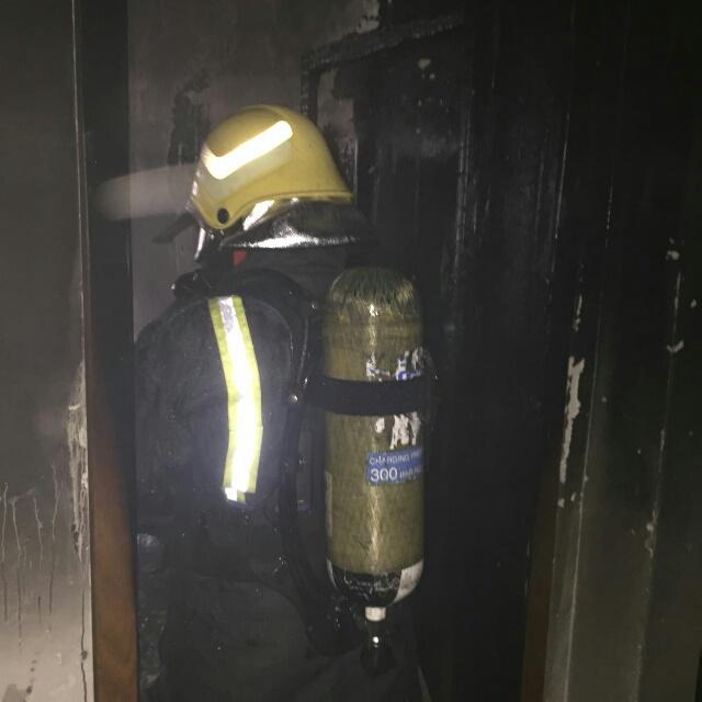 حريق شقة مدينة العمال الدمام (4)