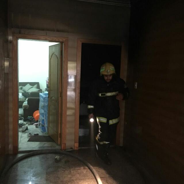 حريق شقة مدينة العمال الدمام (5)