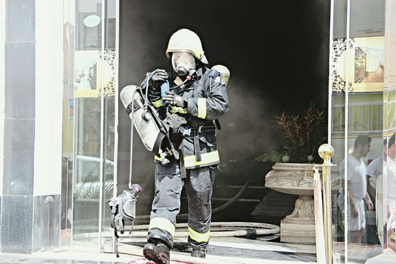 حريق شقق مفروشة (1) 