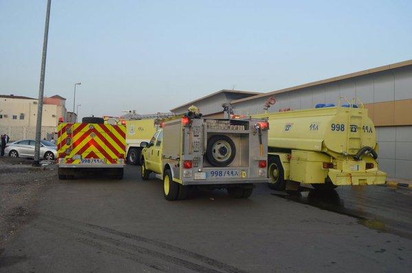 حريق صالة كبار الشخصيات بقصر الافراح بالمدينة (2)