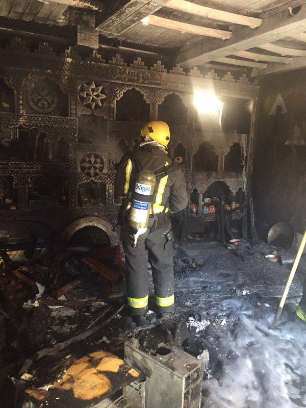 حريق ضخم بأحد منازل #الزلفي (2)