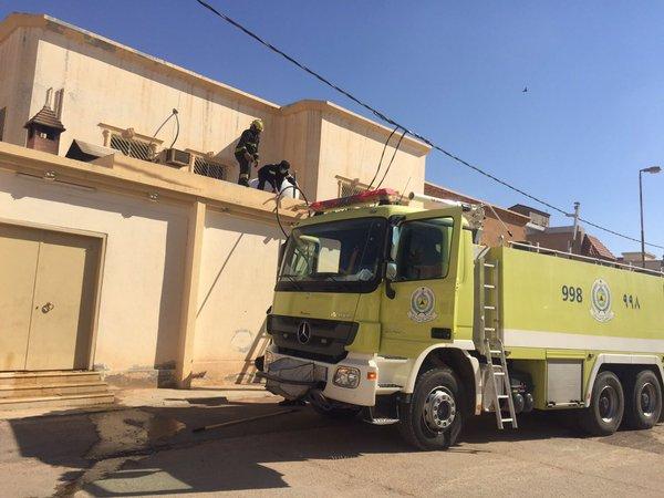 حريق ضخم بأحد منازل #الزلفي (3)