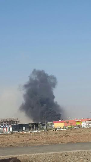. حريق ضخم بمجمع تجاري بجازان11