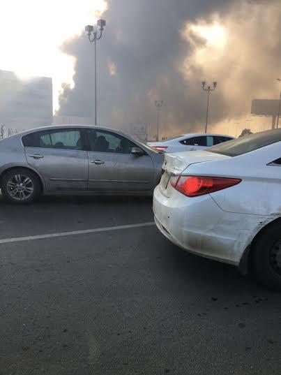 . حريق ضخم بمجمع تجاري بجازان7
