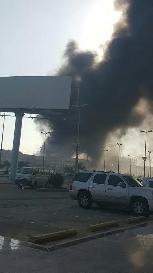 . حريق ضخم بمجمع تجاري بجازان9