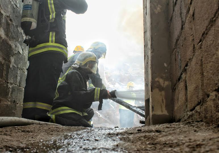 حريق طال استراحة بعقدة حائل