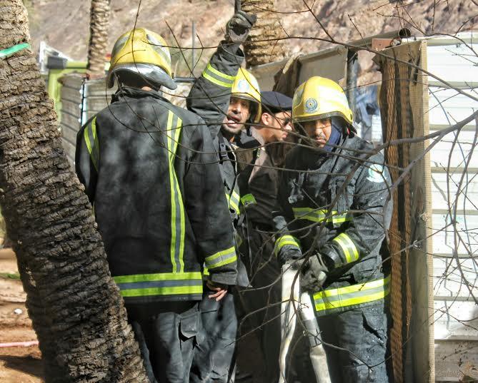 حريق طال استراحة بعقدة حائل2