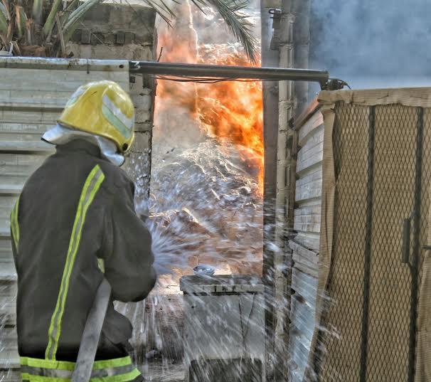 حريق طال استراحة بعقدة حائل3