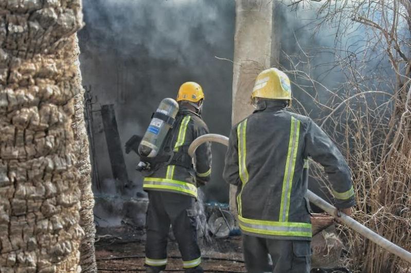 حريق طال استراحة بعقدة حائل5