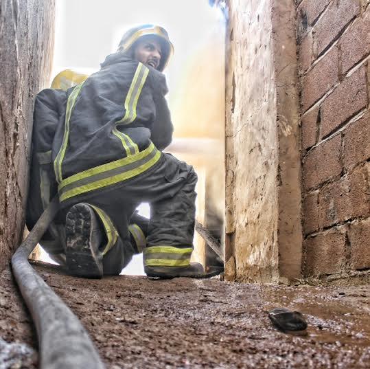 حريق طال استراحة بعقدة حائل6