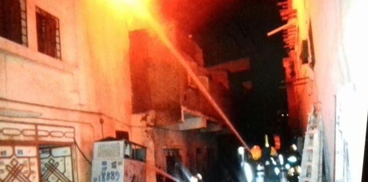 حريق عمارة جدة (3)
