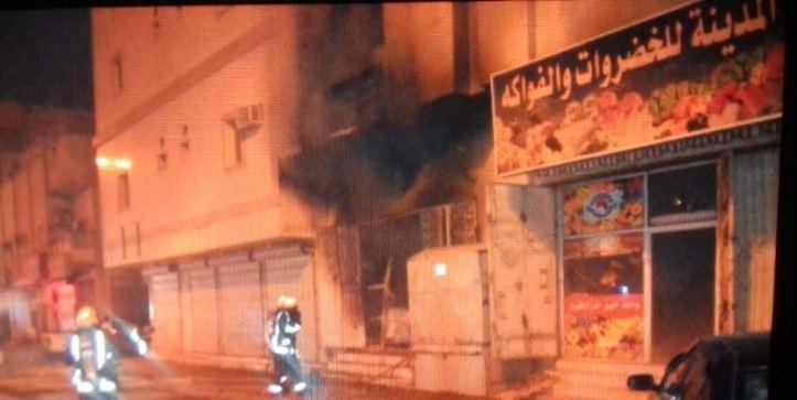 حريق عمارة جدة (4)