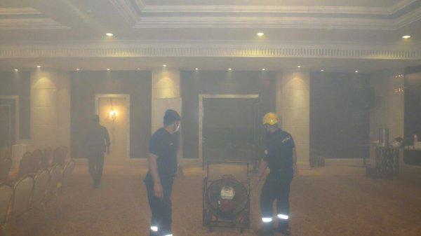 حريق غرفة الساونا (1) 