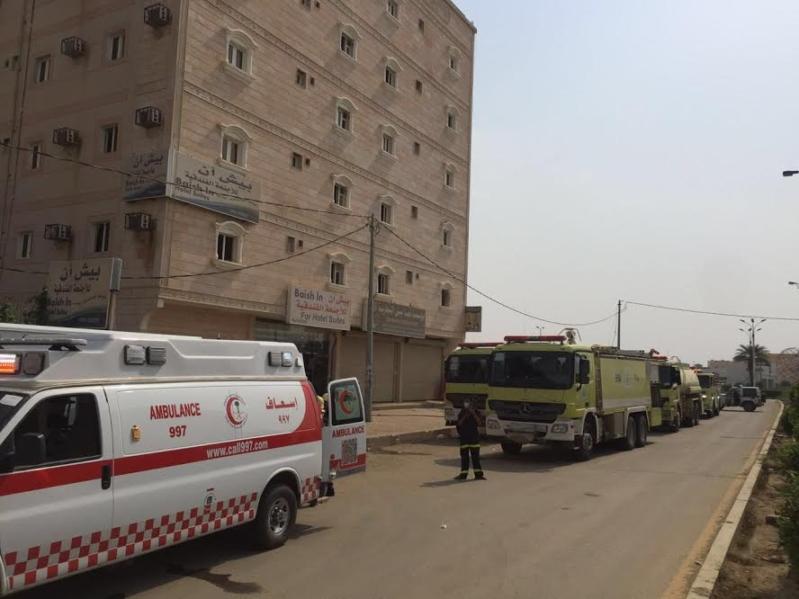 حريق فندق بيش بجازان