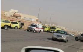حريق في ابتدائية بـ #الرياض1