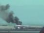 حريق في احد الطائرات