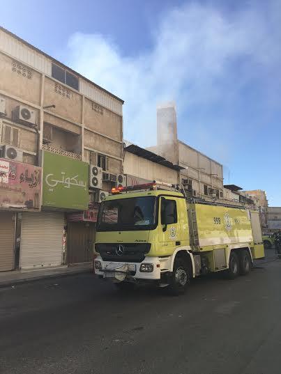 حريق في محل بشارع الصناعة ببريدة
