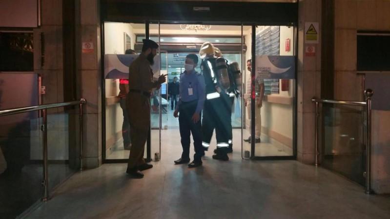 حريق في مستشفى الحياة (1)