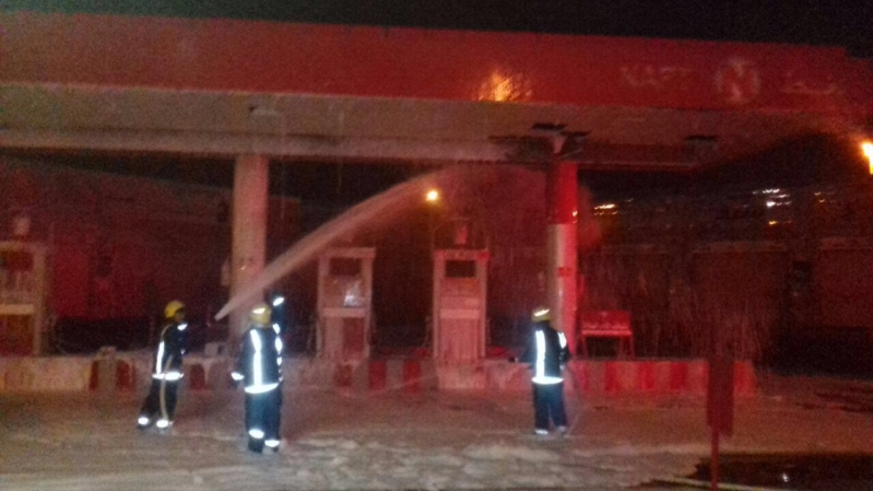 حريق محطة وقود بالمدينة (2)