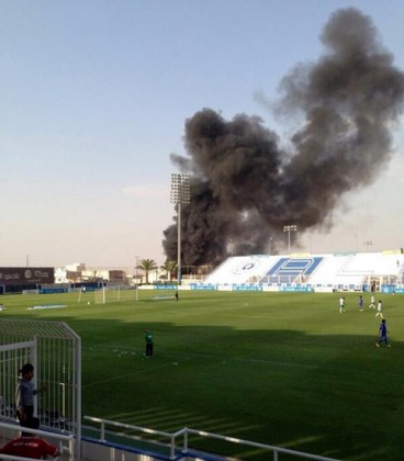 حريق محطة وقود بجانب نادي الهلال