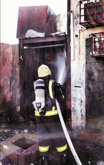 حريق محلات تجارية في ابوعريش1