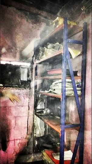 حريق محلات تجارية في ابوعريش4