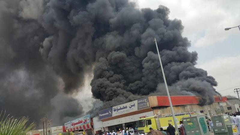 حريق محل تجاري1