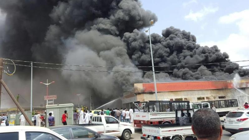 حريق محل تجاري3