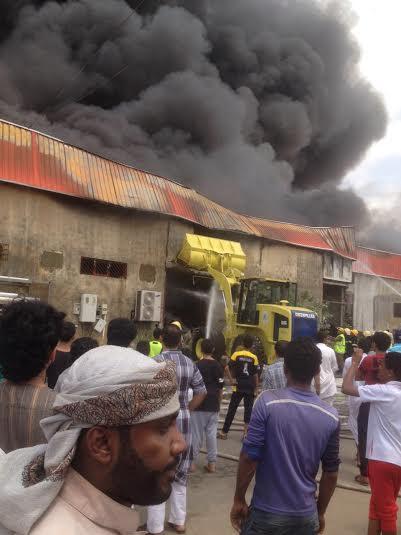 حريق محل تجاري4