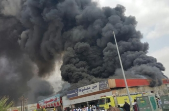 حريق محل تجاري5