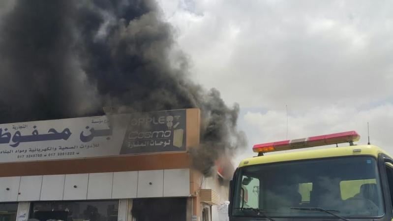 حريق محل تجاري6