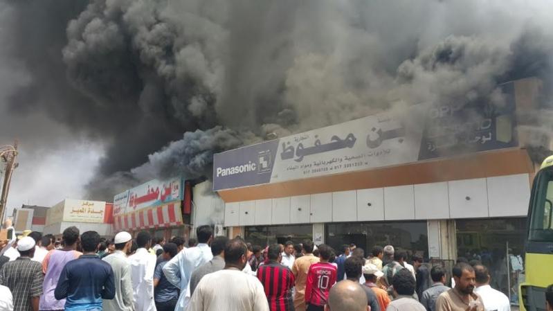 حريق محل تجاري7