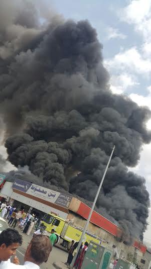حريق محل تجاري8