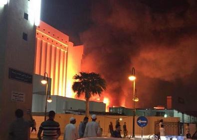حريق مدينة الملك فهد الطبية.PNG 3