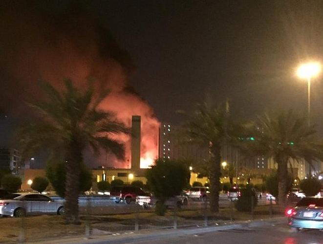 حريق مدينة الملك فهد الطبية