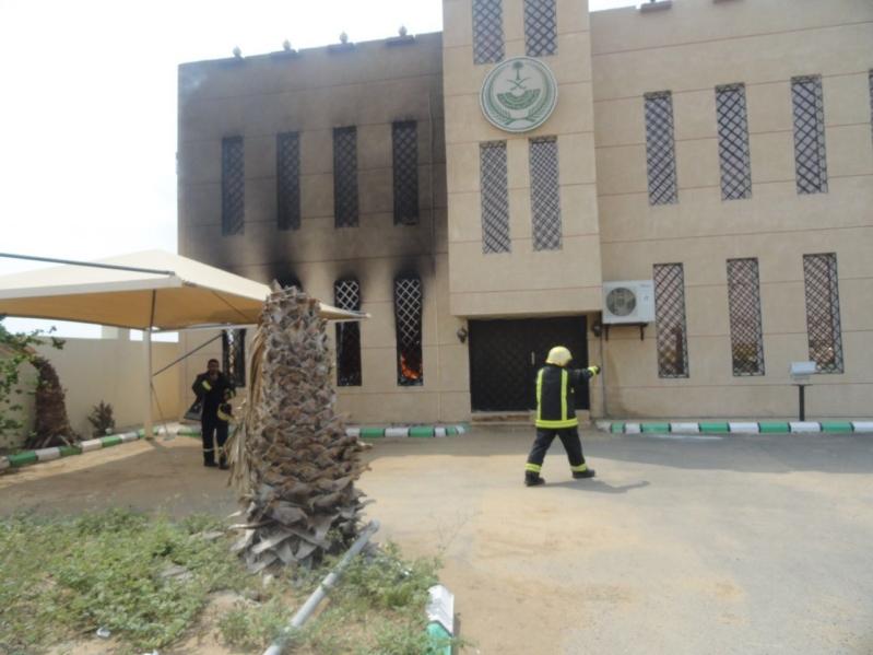 حريق مركز مسلية3