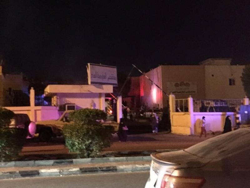 حريق مستشفى العارضة 2