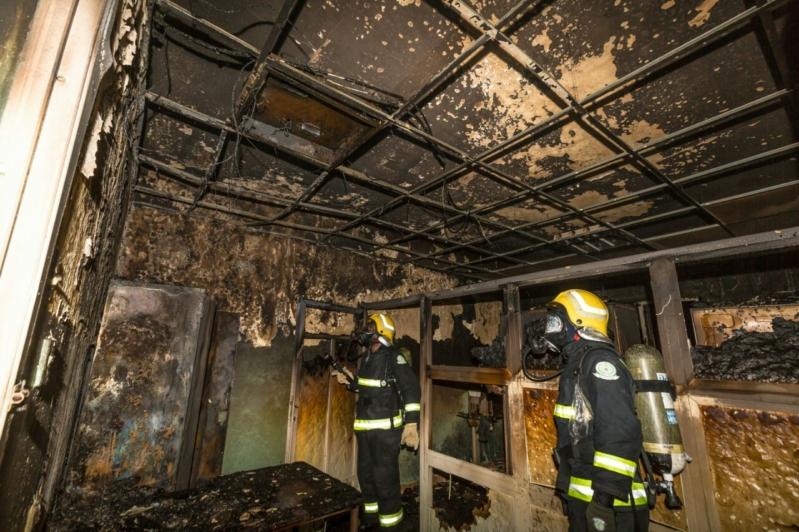حريق مستشفى العارضة1